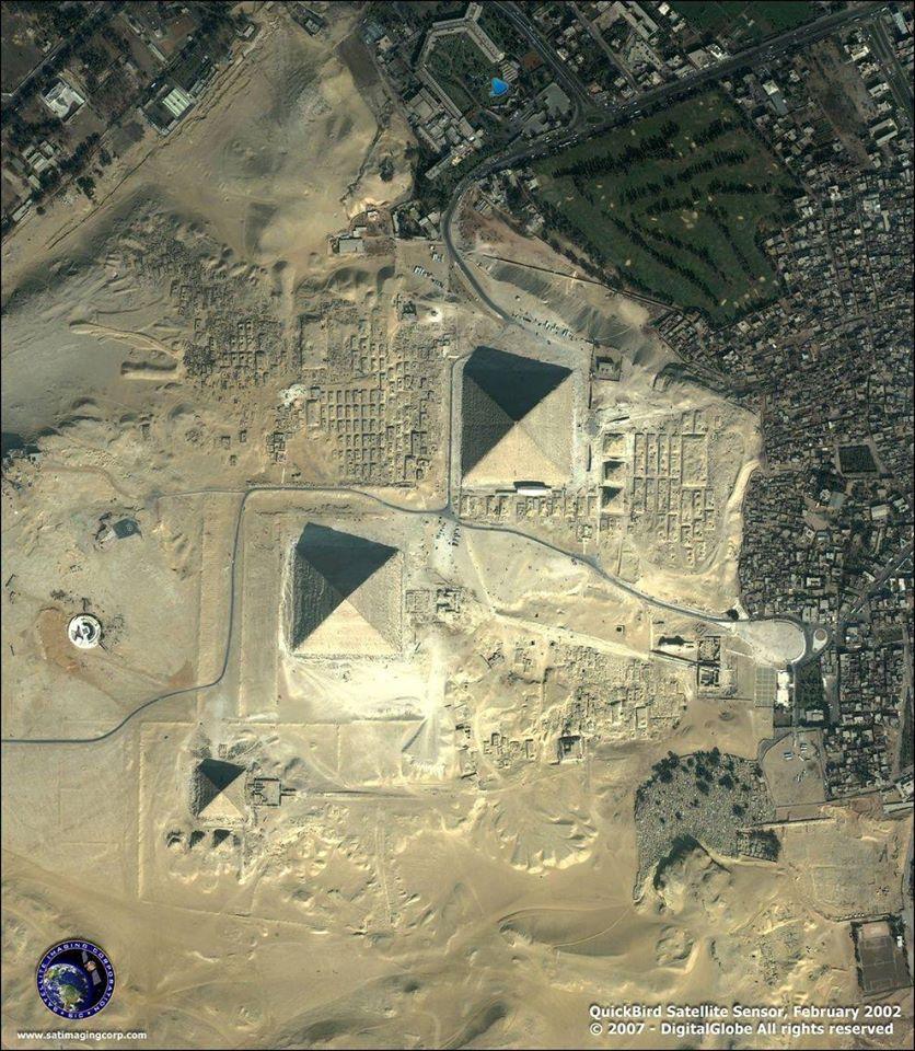 Giza piramides. Egipto
